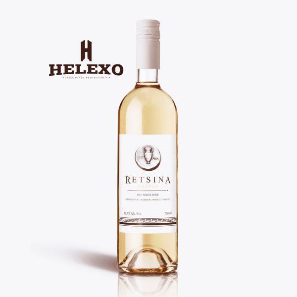 Retsina Helexo White Dry Wine, 500ML