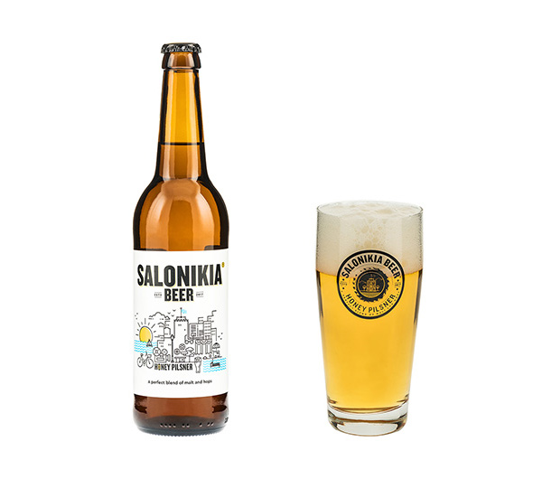 Salonikia Pilsner Style Beer 500ml