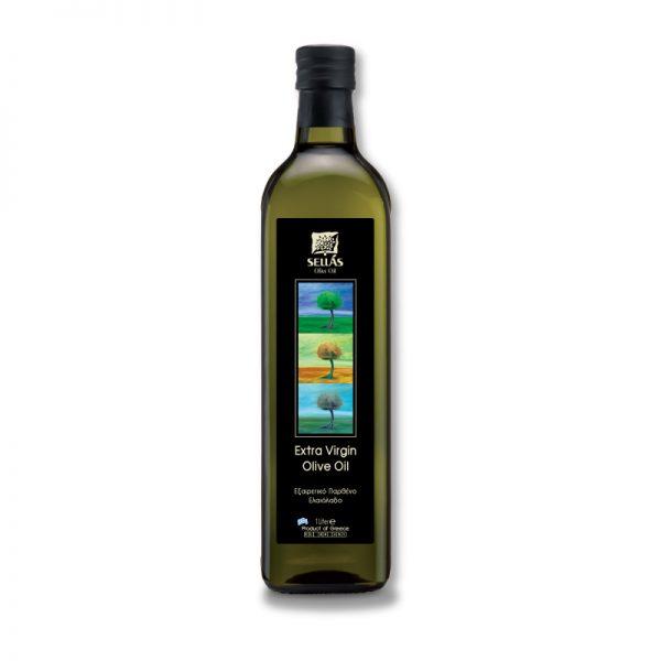 Sellas Extra Virgin Olive Oil Glass Bottle 1lt
