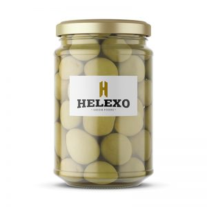 Green Olives Whole Glass Jar 370ml