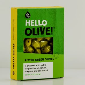 Hello Olive! Pitted Green Olives