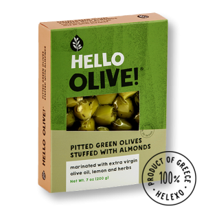 Hello Olive! Pitted Green Olives Stuffed with Almonds